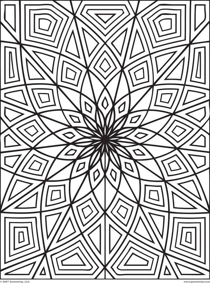 Printable Geometric Design Coloring Pages
