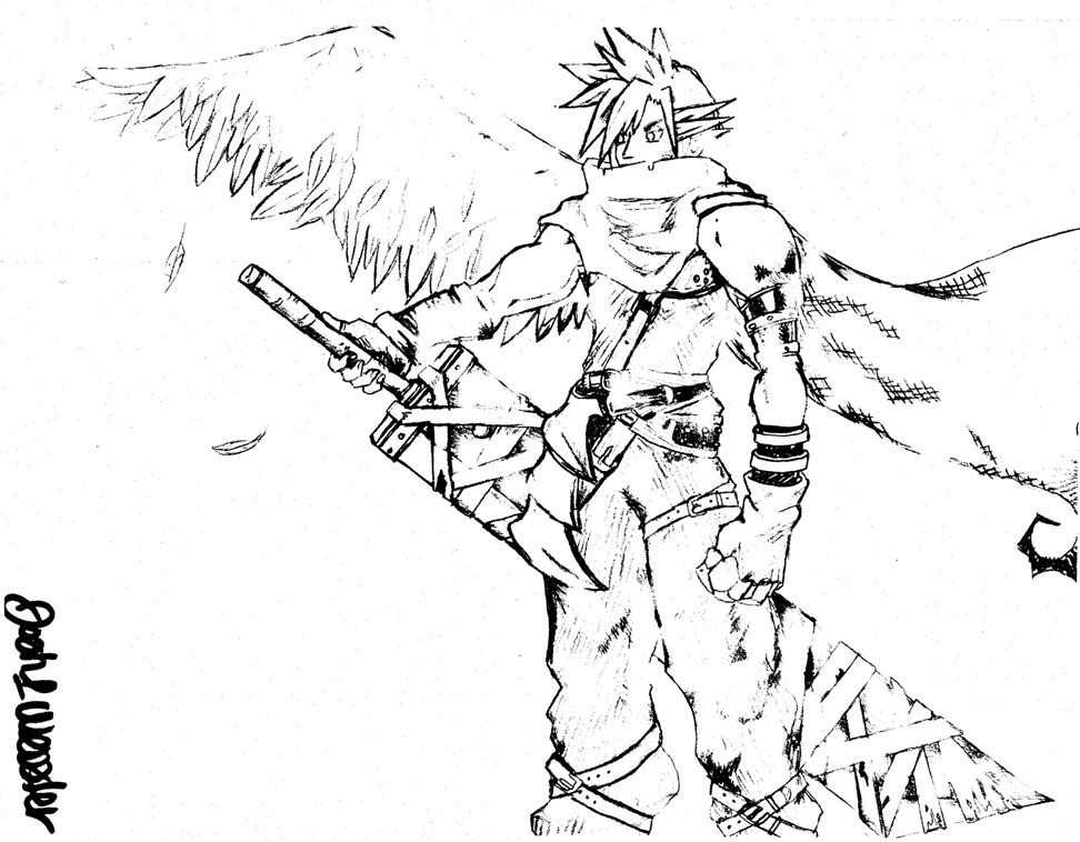 Final fantasy coloring pages coloring home for Final fantasy coloring pages
