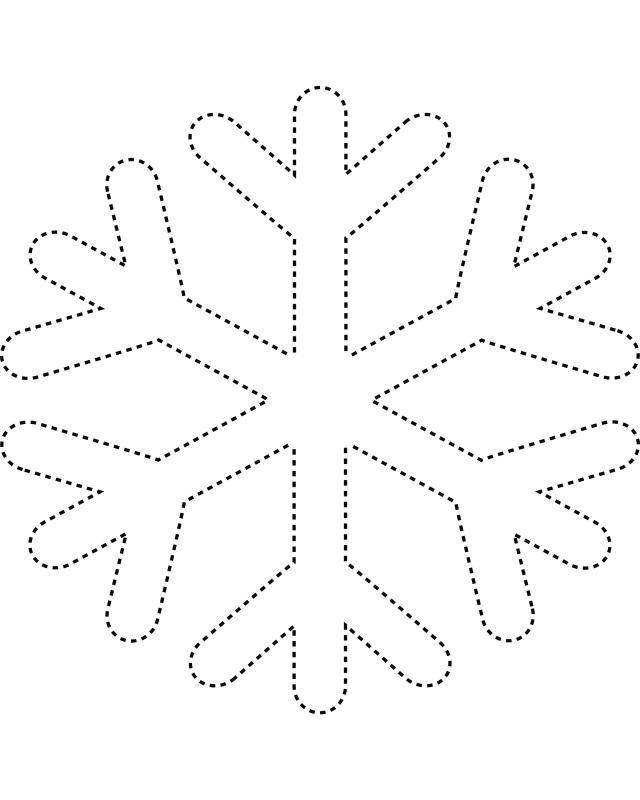 Printable Snowflake Coloring Pages Home
