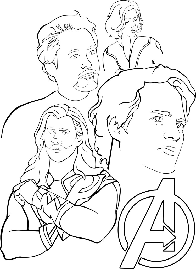 Avengers Coloring Pages For Toddlers : Avengers coloring pages for kids az