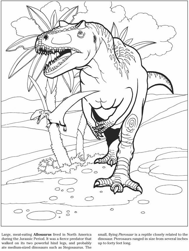 Allosaurus Coloring Page AZ Coloring