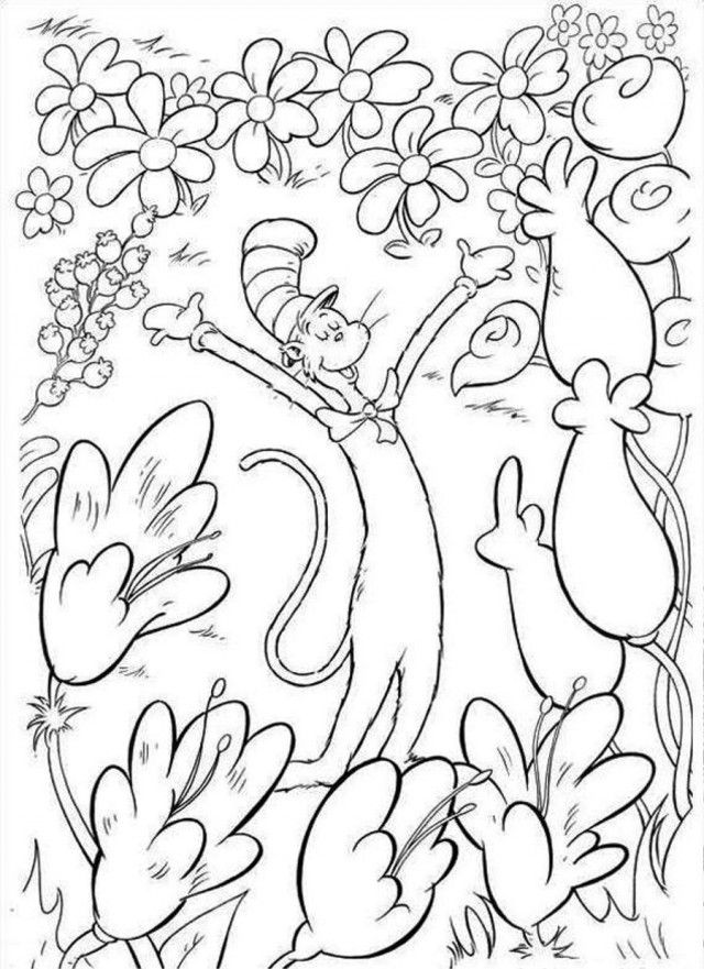 Dr Seuss Coloring Pages Dr Seuss Coloring Pages Cat In The Hat