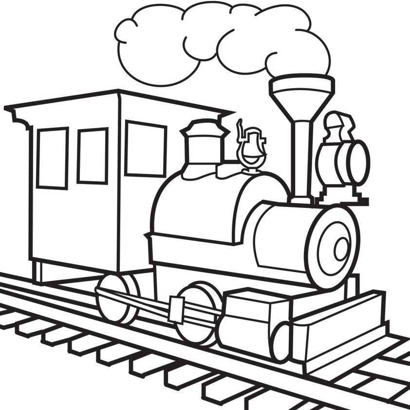 train coloring pages kids