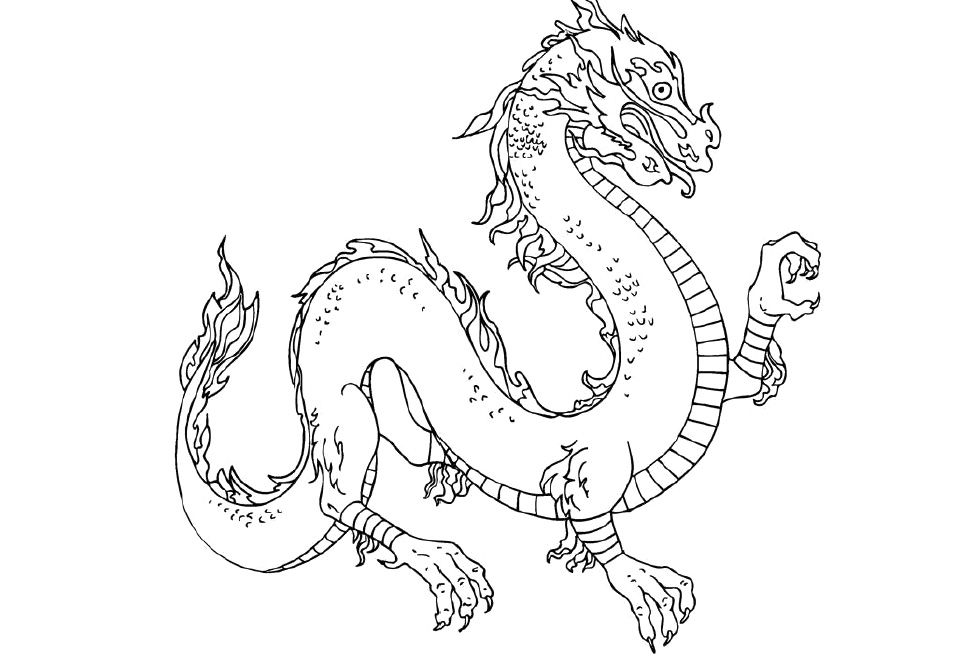 chinesse dragon coloring pages - photo#12