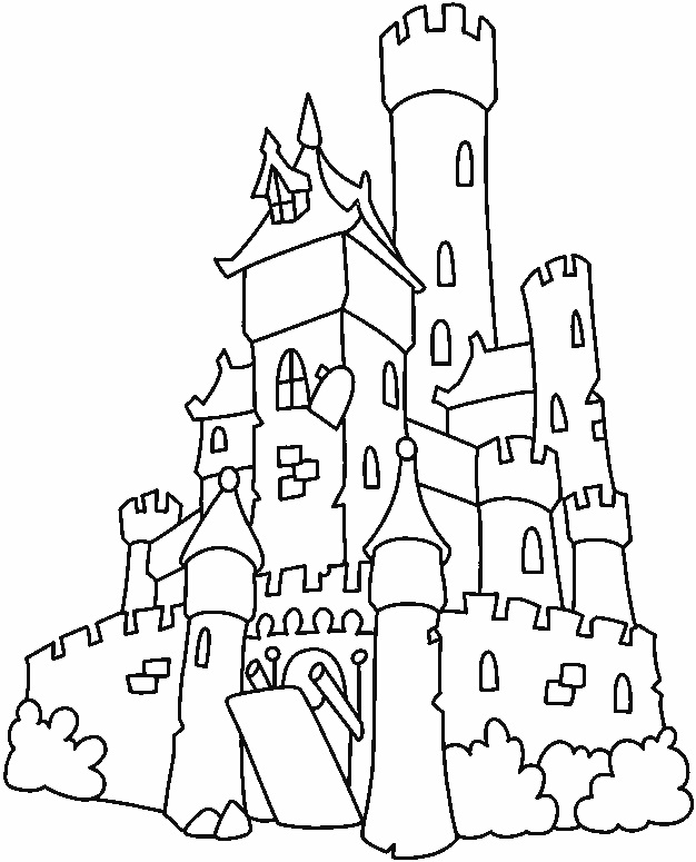 Tall Castle Drawing Castle Drawing For Kids Images