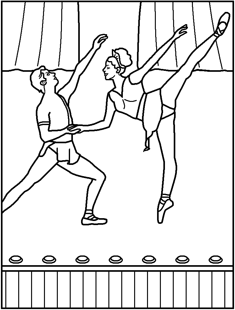 FREE Printable Ballet Coloring Pages - great for kids, teachers