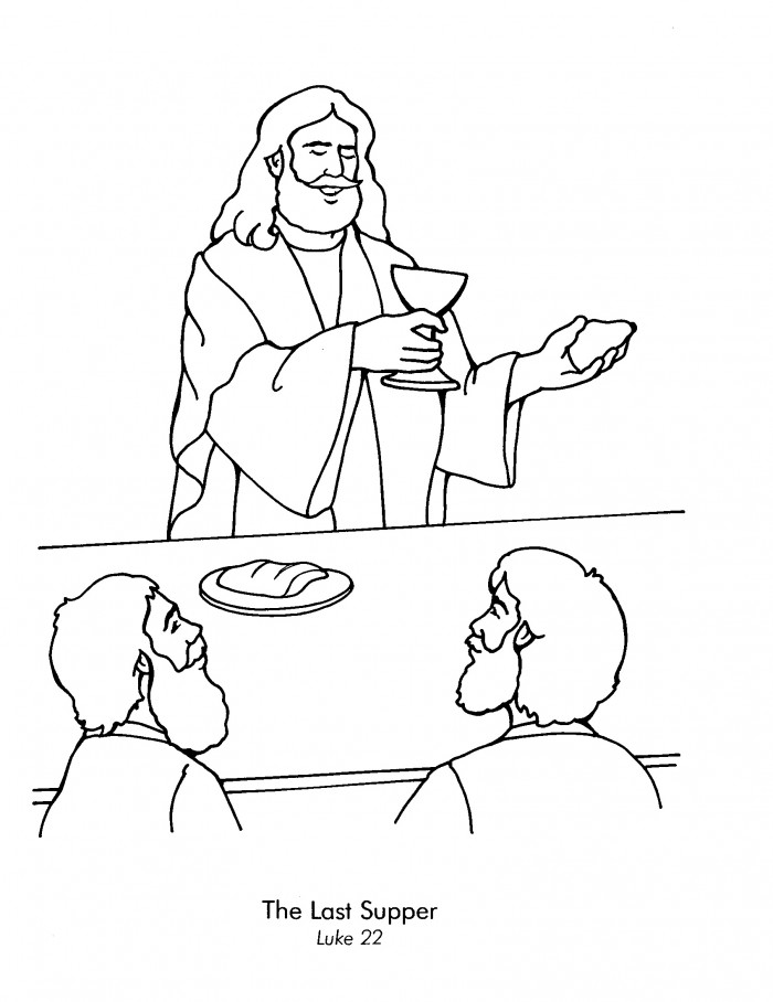 Holy Thursday Coloring Pages Az Coloring Pages The Last Supper Coloring Page