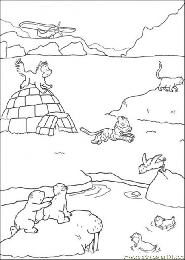 Arctic animals coloring pages coloring home for Polar animal coloring pages
