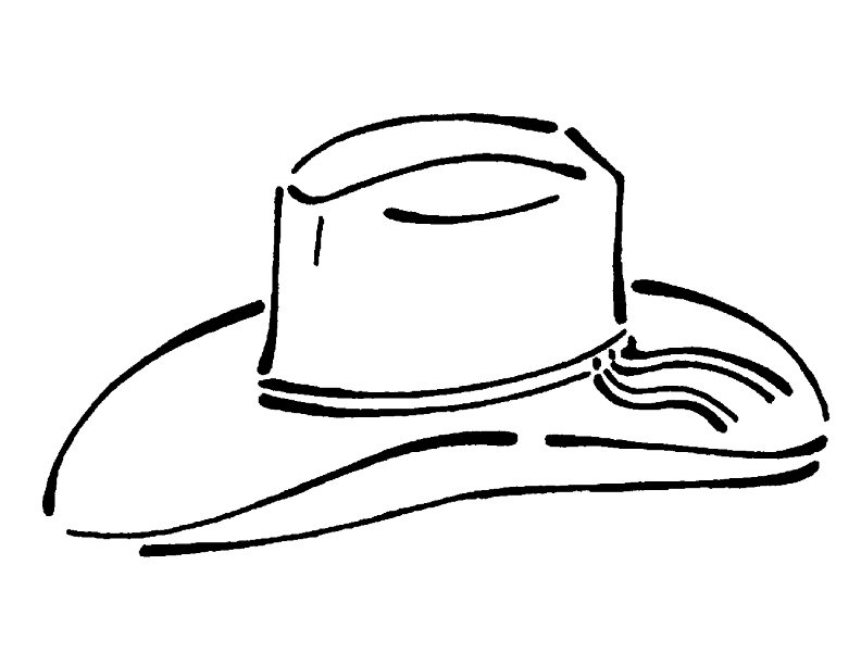 Cowboy Hat Coloring Pages AZ