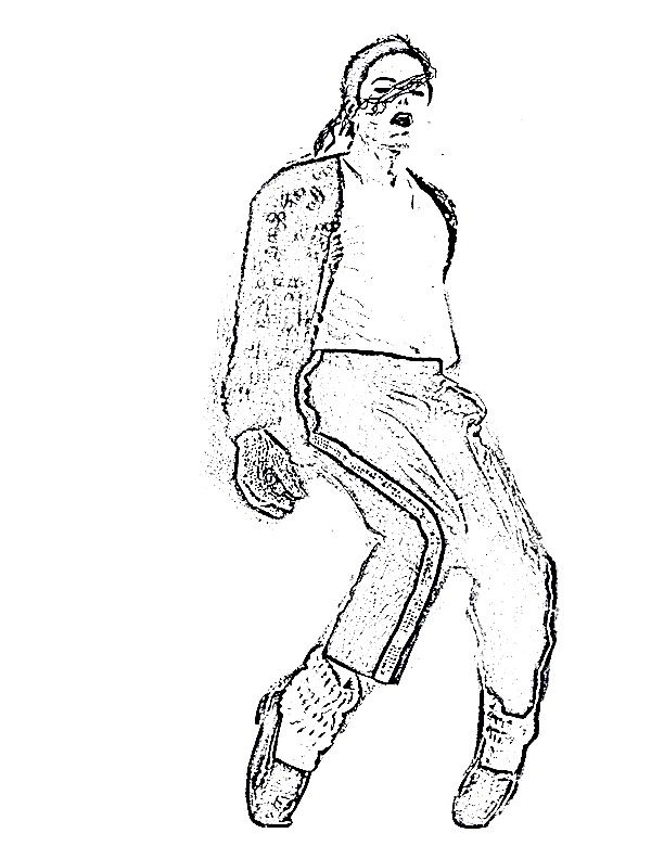 Pin Coloriage Michael Jackson On Pinterest