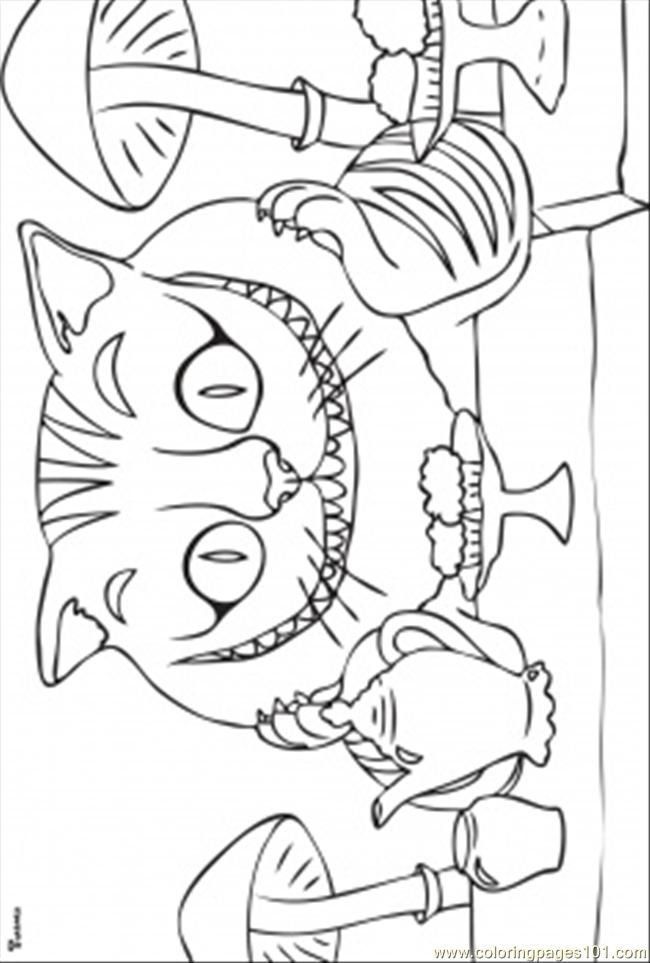 Alice In Wonderland Cat Pictures Coloring Home