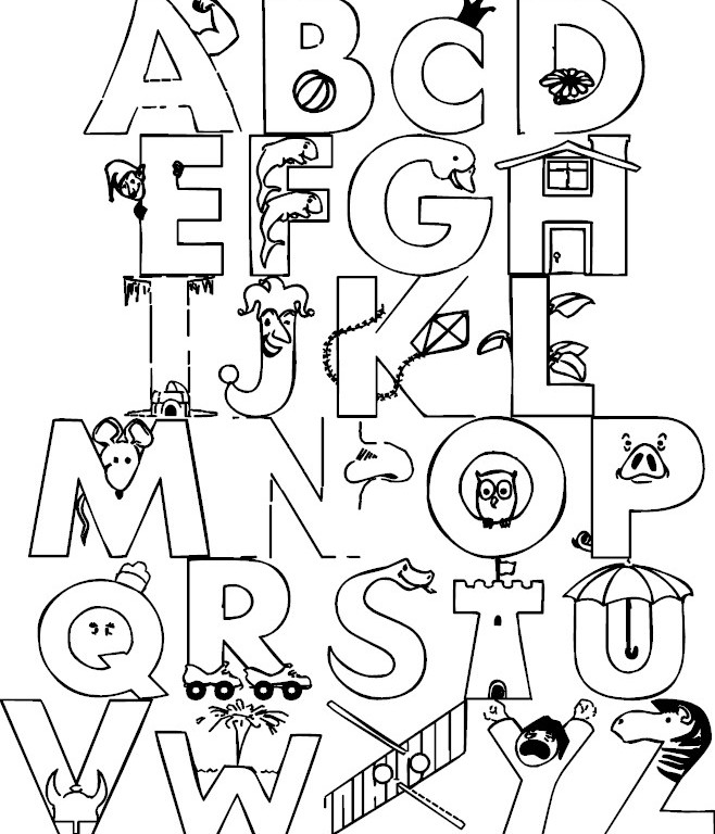 Free Coloring Pages Alphabet Sesame Street : Free coloring pages alphabet sesame street