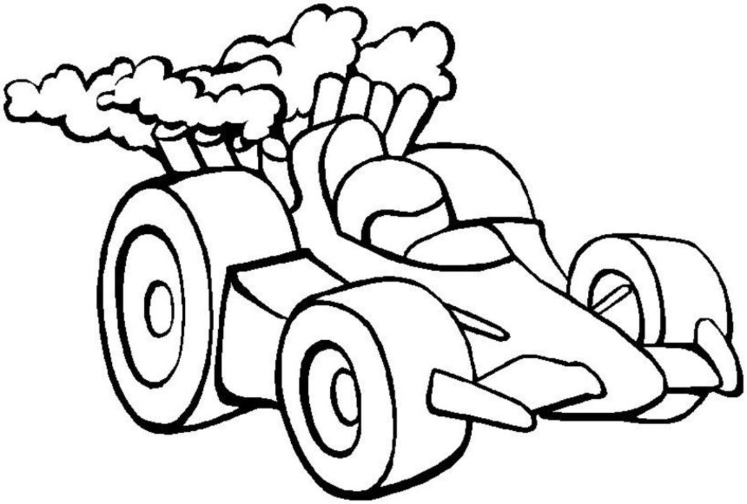Pictures Of Race Cars To Color