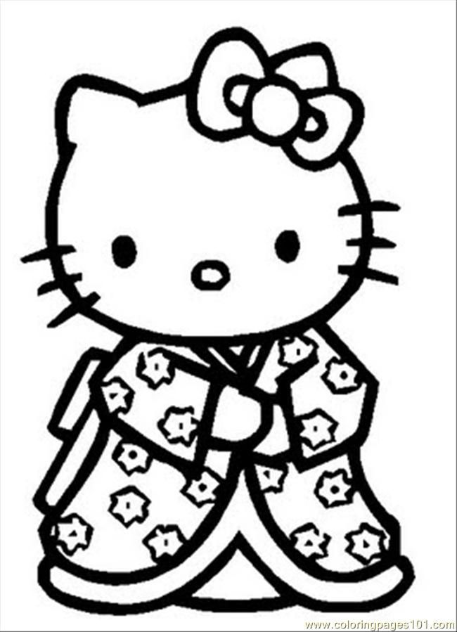 pretty hello kitty coloring pages - photo#32