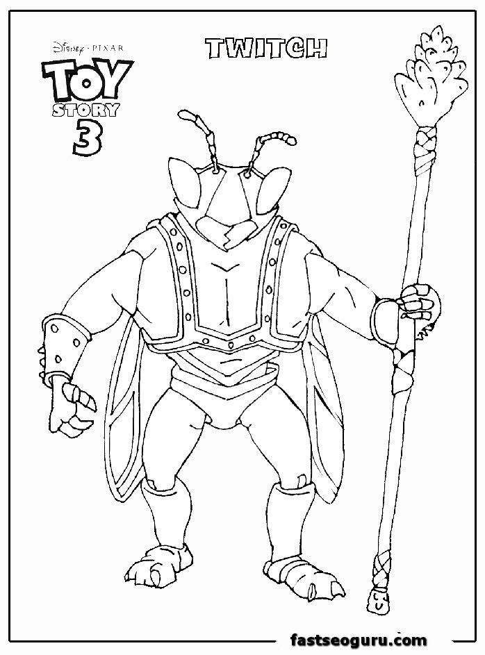 Toy Story 3 Coloring Pages Az Coloring Pages Story 3 Colouring Pages