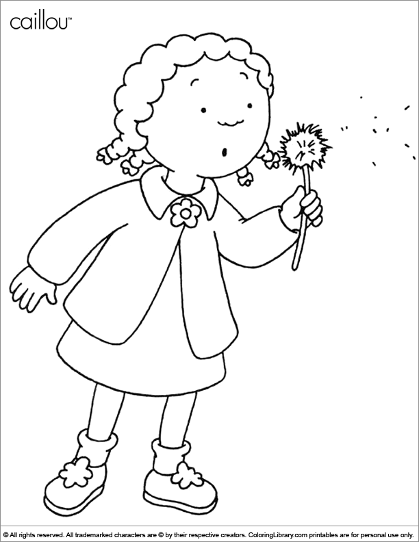 Caillou Coloring Pages Pdf : Caillou coloring picture home