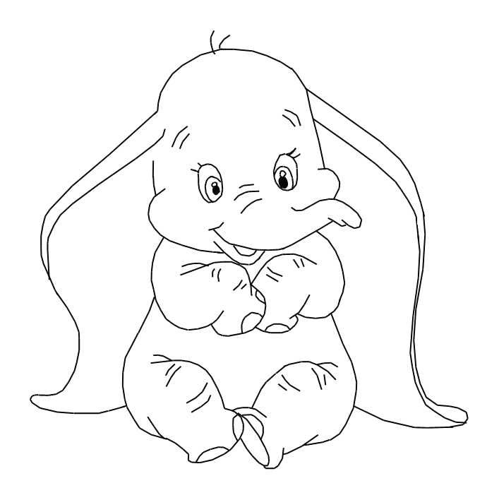 Disney Dumbo Coloring Pages  Coloring Home