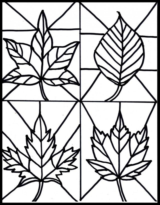 simple stained glass coloring pages - photo#3