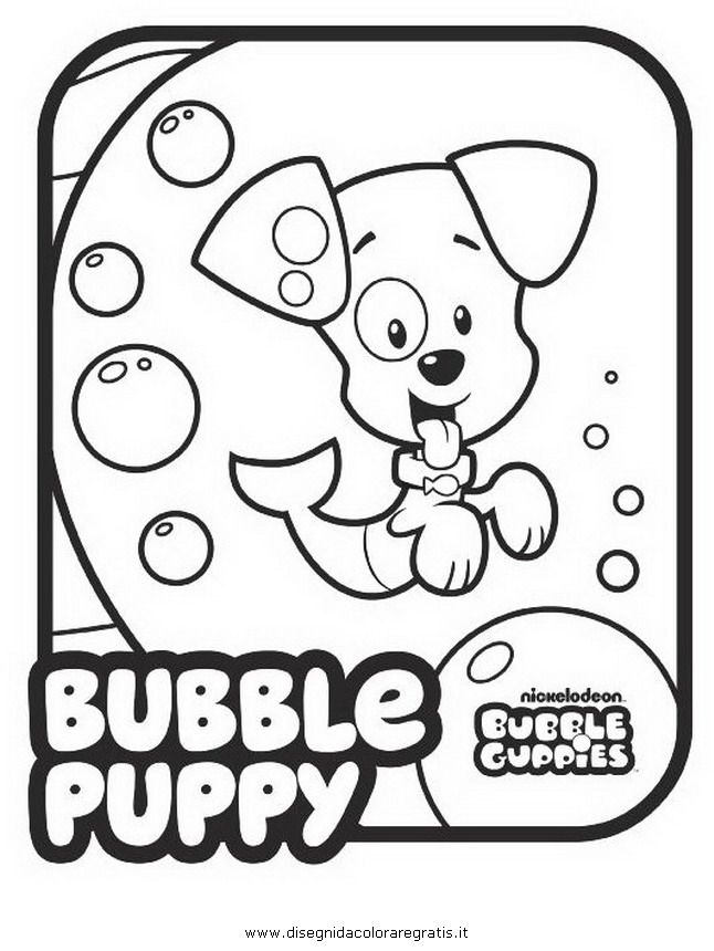 nonny bubble guppies Colouring Pages
