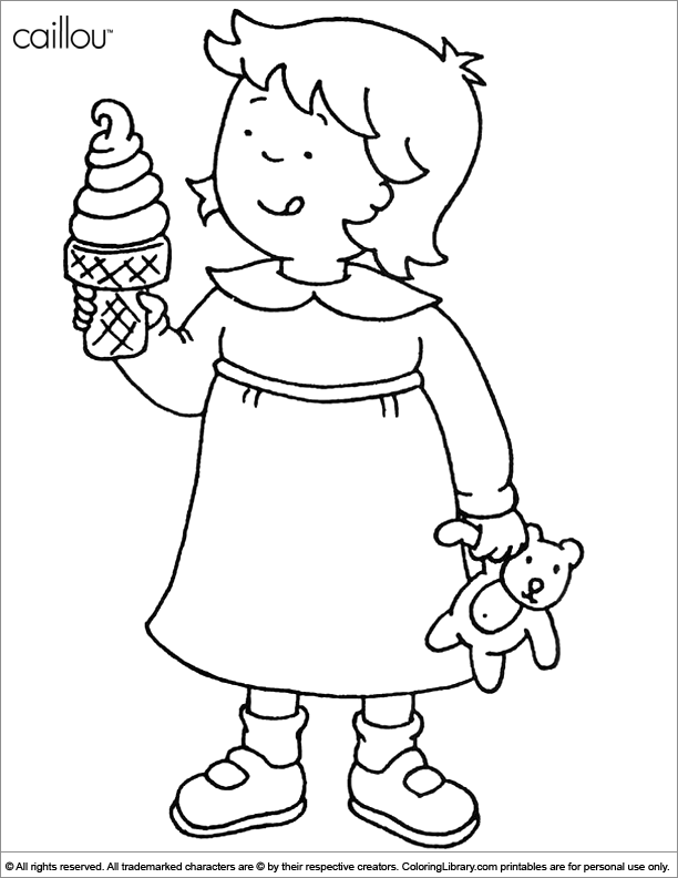 caillou online coloring pages - photo#30