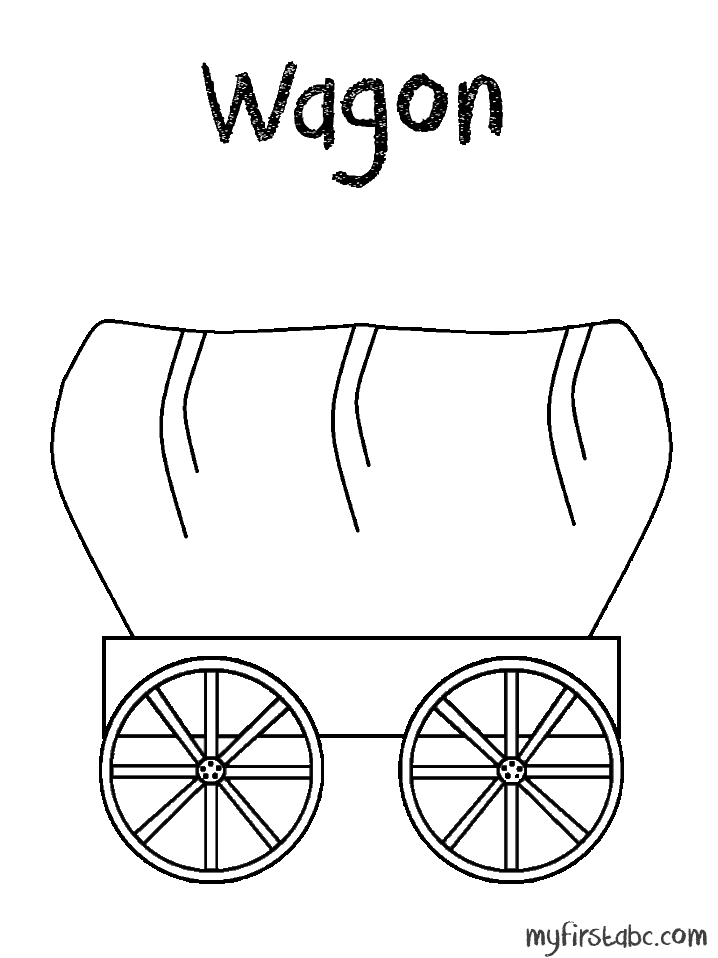 wagon train coloring pages - photo#42