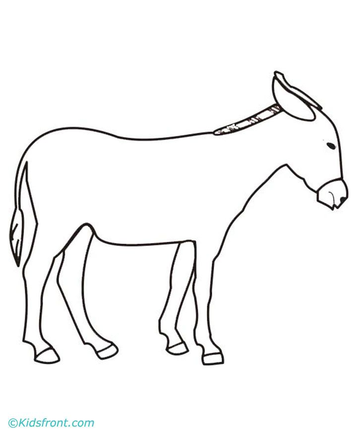 d is for donkey coloring pages - photo #47
