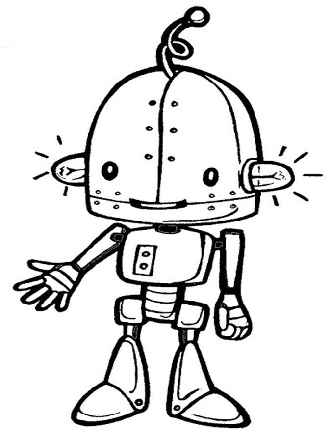 pictures of robots to color