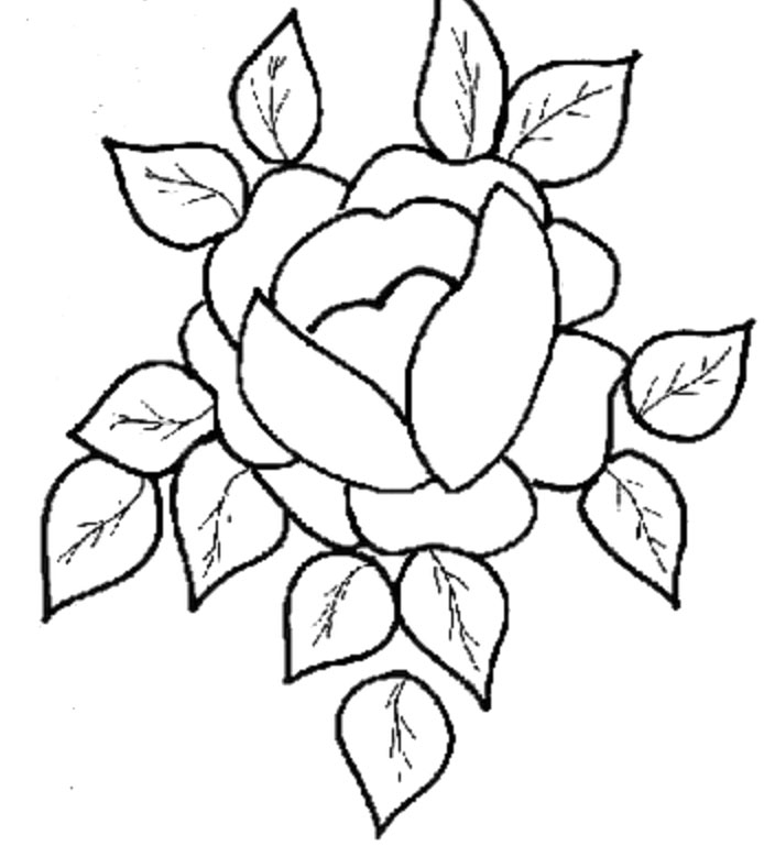 pretty flowers coloring pages - photo#2