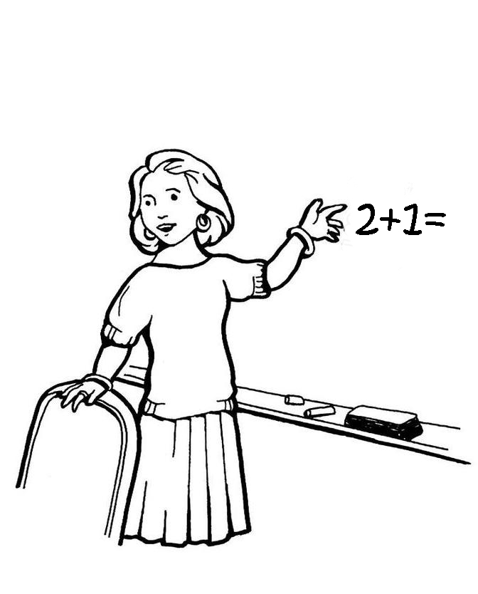 coloring pages of a teacher - photo#6