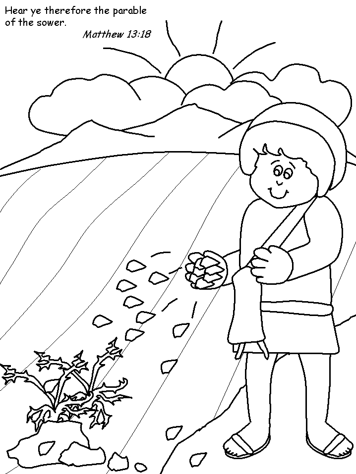parables coloring pages - photo#9