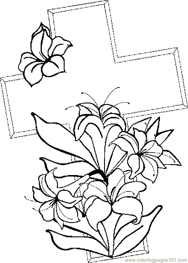Coloring page cross az coloring pages for Free cross coloring pages