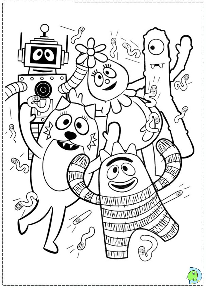 Yo Gabba Coloring Sheets