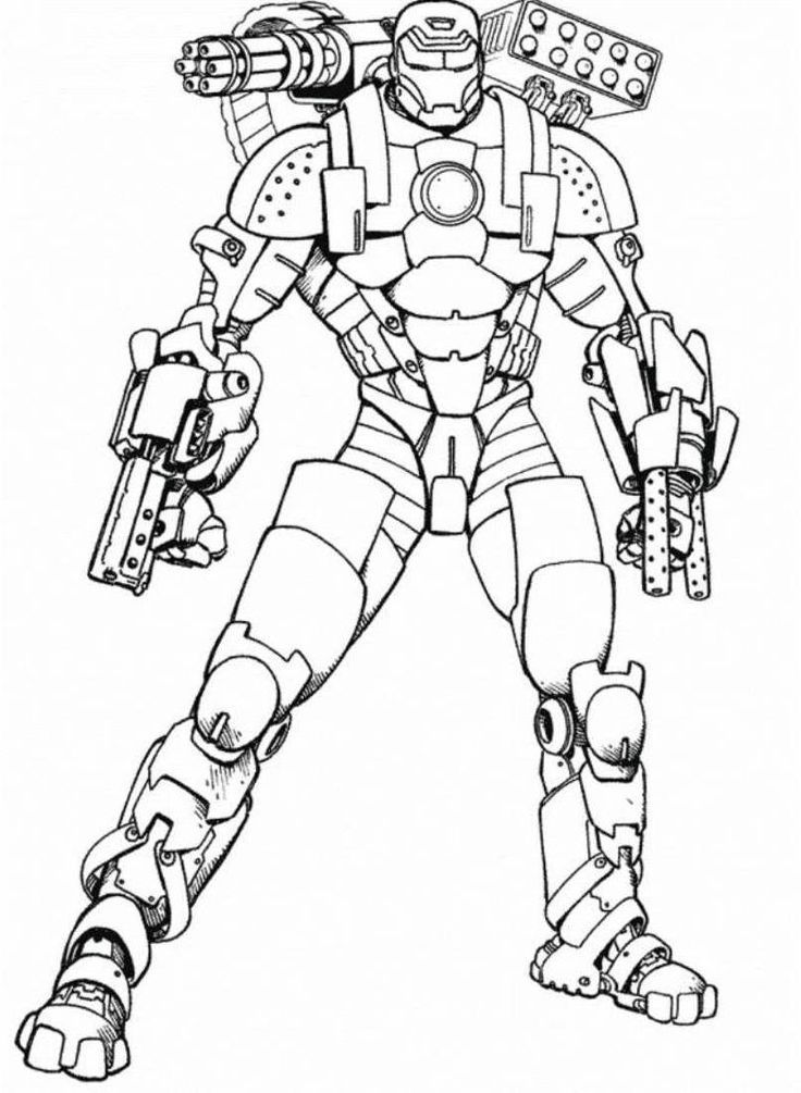 Ironman 2 Coloring Pages - AZ Coloring Pages