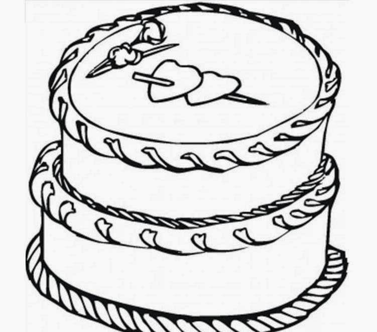 Cake Pictures To Print And Colour : Free Printable Birthday Cake - AZ Coloring Pages