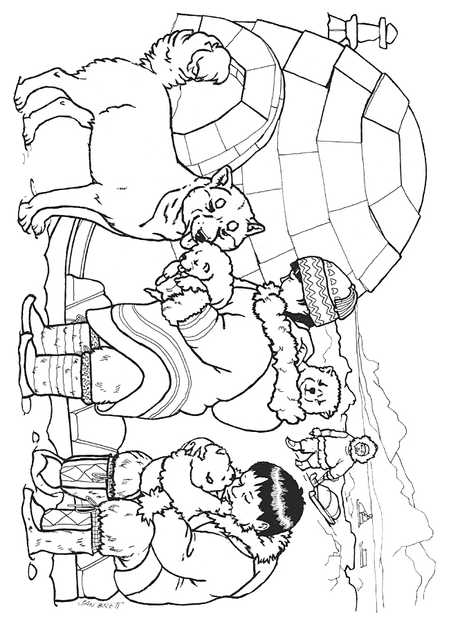 eskimo coloring pages printable coloring pages