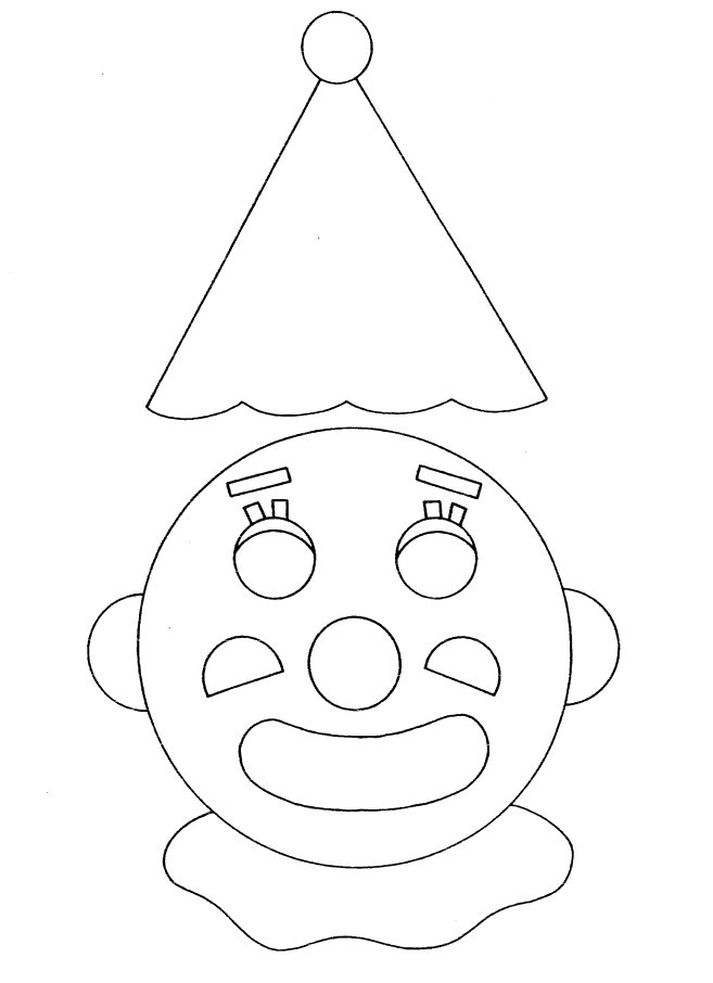clown faces coloring pages - photo#14
