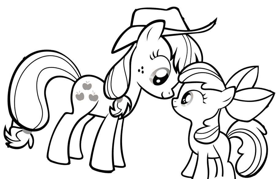 My Little Pony Sign Coloring Pages : My little pony coloring page az pages