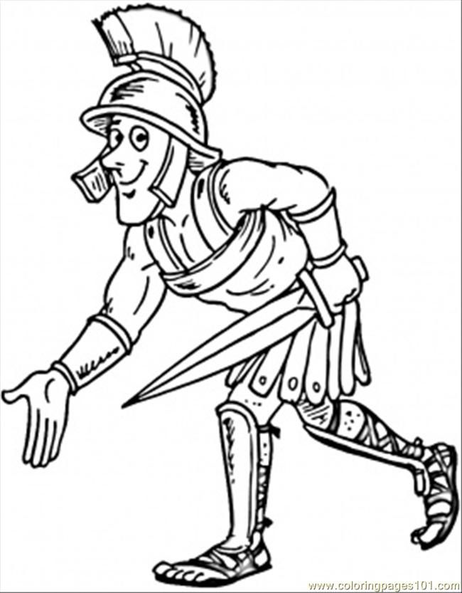Coloring Pages Gladiator (Countries > Italy) - free printable
