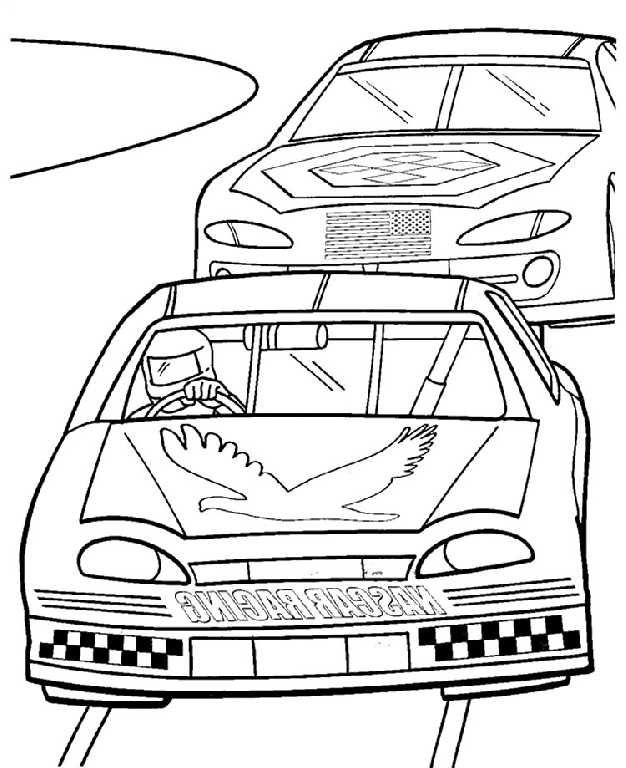 Car Wreck Coloring Pages : Free coloring pages of nascar crash