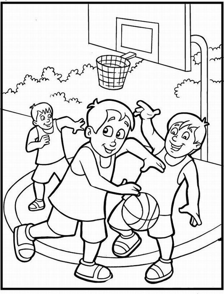 Coloring Pages For Basketball : Basketball coloring pages for kids home
