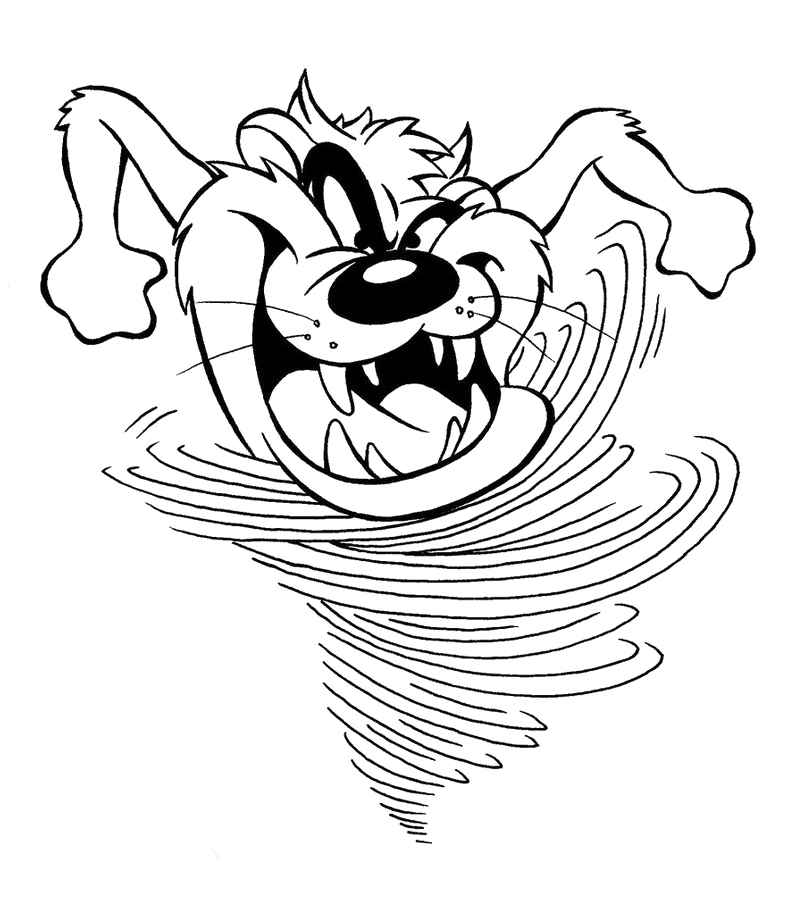tasmanian devil coloring pages | Tazmanian Devil Coloring Pages - Learny Kids