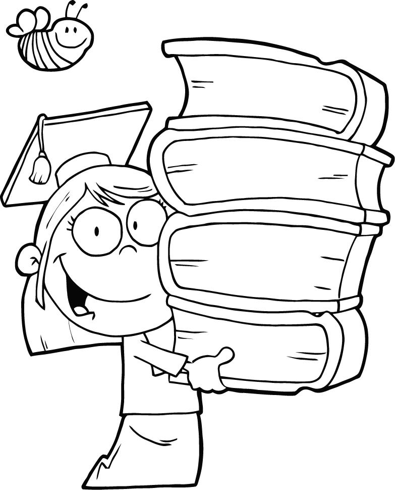 Kindergarten Graduation Coloring Pages - Coloring Home