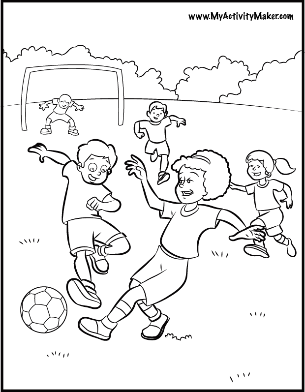 Free sports coloring pages for kids coloring home for Soccer coloring pages for kids