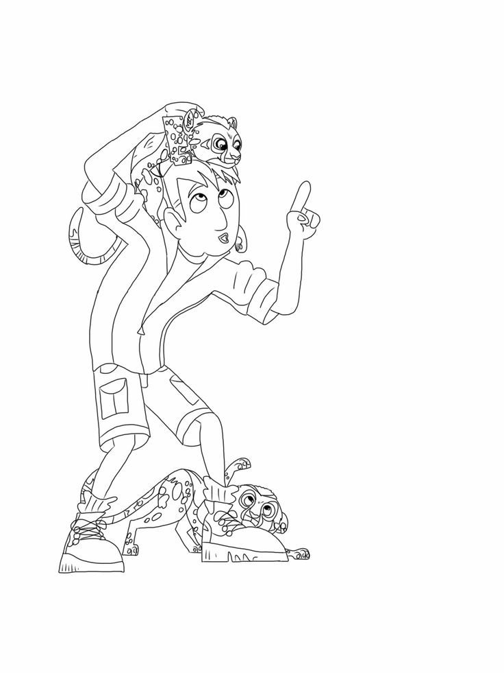 Wild kratts coloring page, cheetah cubs | Coloring Pages