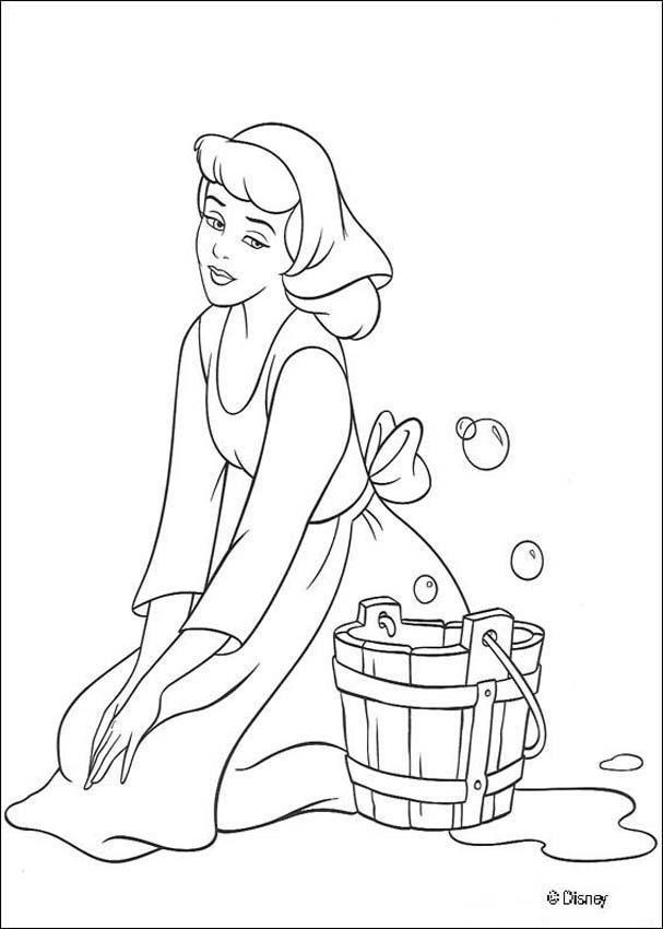 Princess Cinderella Dance Coloring Pages KidsyColoring