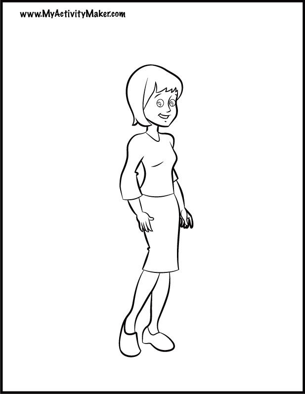 Coloring Pages: People | My Activity Maker
