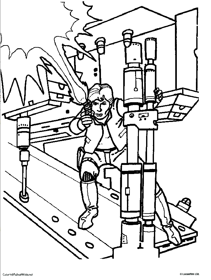 han solo coloring pages - photo#18