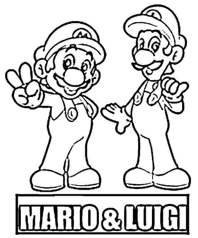mega mario coloring pages - photo#33
