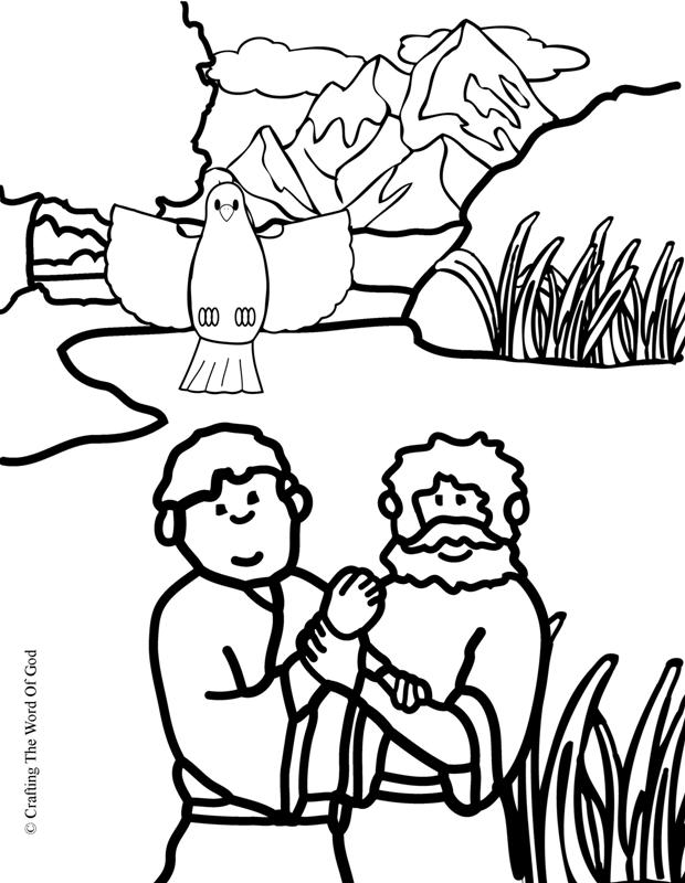 Jesus Baptism- Coloring Page « Crafting The Word Of God