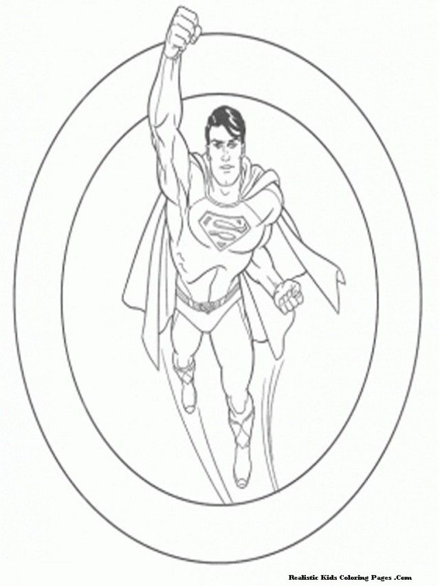 Free Printable Superman The Man Of Steel For Kids | Coloring Pages